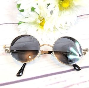 Unisex Steampunk Motorcycle Silver Sunglasses
